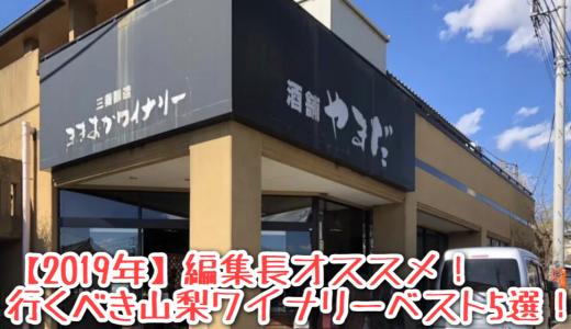 【2019年】編集長オススメ!行くべき山梨ワイナリーベスト5選!