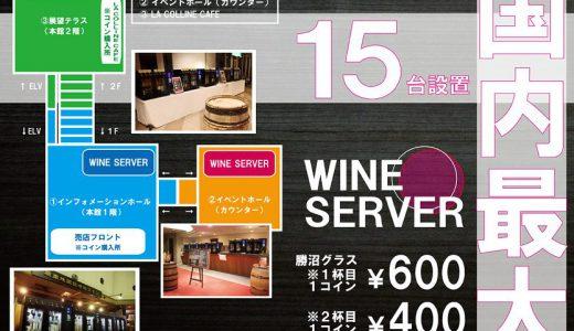 【必見!!】90本もの山梨ワインを1日でテイスティングできる!?【勝沼ぶどうの丘】に15台ものワインサーバーが導入!!