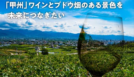 【山梨ワイン好き必見】未来につなげよう「日本の宝-山梨ワイン-」クラウドファンディング実施中!!